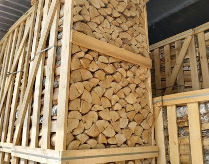 Brennholz aus Birke, technisch kammergetrocknet