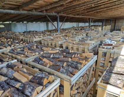 Brennholz aus Erle, technisch kammergetrocknet